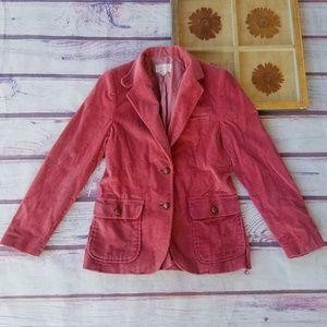 Vintage Pink Corduroy Elbow Patch Blazer S